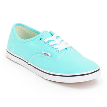 Vans Girls Authentic Lo Pro Aqua Splash & True White Shoe