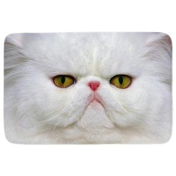 White Cat Bathmat
