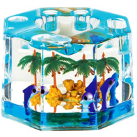 Octagon Dolphin Island Palm Paperweight | Office Supplies
