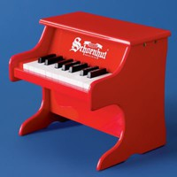 Kids' Musical Instrument Toys: Kids Jr. Red Piano Toy