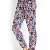 Tribal Print Pleated Pants