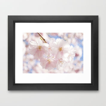 Cherry Blossom Framed Art Print by Aubergine & Purple