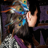 Shanti Tribal Feather Ear Cuff by SpiritTribe on Etsy