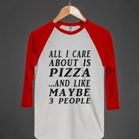ALL ABOUT PIZZA B TEE-JH - glamfoxx.com - Skreened T-shirts, Organic Shirts, Hoodies, Kids Tees, Baby One-Pieces and Tote Bags