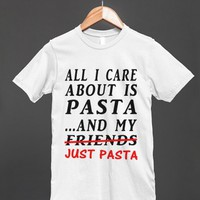 I CARE ABOUT PASTA REG TEE-JH - glamfoxx.com - Skreened T-shirts, Organic Shirts, Hoodies, Kids Tees, Baby One-Pieces and Tote Bags