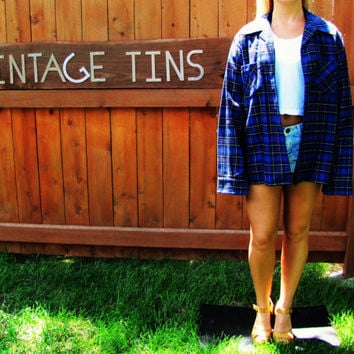 vintage wool blend plaid flannel big shirt. flannel work shirt. grunge shirt. lumberjack flannel shirt
