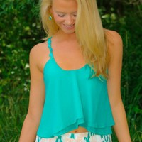 Picked Just For You Crop Top-Spearmint