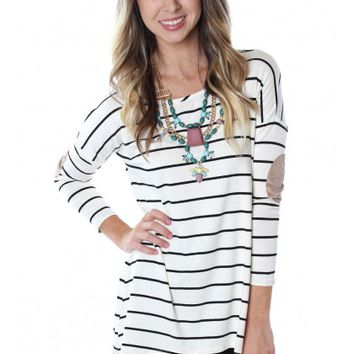 Patched Up Stripe Top