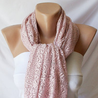 Tulle Pink Shawl wrap scarf by Periay on Etsy