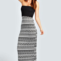 Darcey Contrast Top Bandeau Maxi Dress