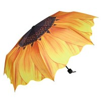 Yellow Sunflower Compact Folding Umbrella