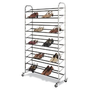 Whitmor 6060-3510 Chrome Supreme 50 Pair Shoe Rack