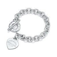 Tiffany & Co. - Return to Tiffany® heart tag toggle bracelet in sterling silver, medium.