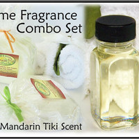 Mandarin Tiki Scent Home Fragrance Combo Set  by crimsonhill