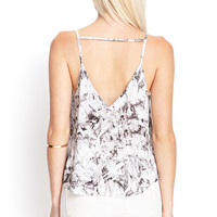 Printed Cutout Back Cami