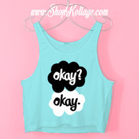 Okay? Okay Crop Tank Top