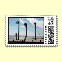 Palm Trees Sway in Coastal Breezes Postage Stamps