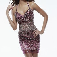 Sequined Mini Dress by Sherri Hill