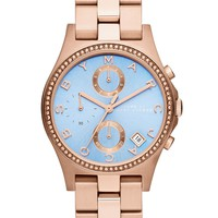 Marc by Marc Jacobs Women's Chronograph Henry Rose Gold-Tone Stainless Steel Bracelet Watch 37mm MBM3299