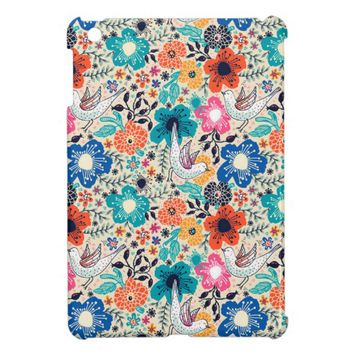 Bright Garden Floral Pattern Apple iPad Mini Case