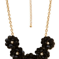 Ladylike Gathered Floral Necklace