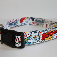 Custom Made Super Hero Dog Collar - Adjustable Pet Collar