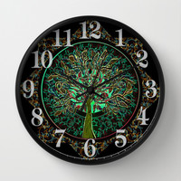 Harmony & Hope Wall Clock by Amelia Carrie | Society6