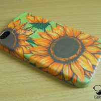 Vintage Summer Sun Flower  Sunshine : iPhone 4s case/ iPhone 4s cover / iPhone 4 Case / iPhone 5 case/ Samsung Case By  CaseAndCraft