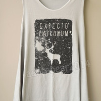 Galaxy Deer Shirt Galaxy Expecto Patronum Shirt Harry Potter Shirt Women Tank Top Long Tank Top Women Tunic Dress Women Shirt Women T-Shirt