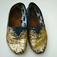 Custom Made Toms Sparkle Glitter Toms Shoes Made by shortyshorts