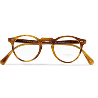 Oliver Peoples - Gregory Peck Tortoiseshell Round-Frame Optical Glasses | MR PORTER