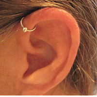No Piercing Handmade Ear Cuff Helix Cuff by ArianrhodWolfchild