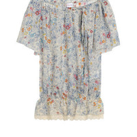 short sleeve floral design top