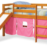 Pipkin's Pink Twin Playhouse Fort Loft Bed