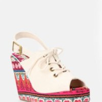 Ecote Malibu Peep-Toe Wedge