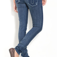 Vigoss 'Double V' Skinny Stretch Jeans (Juniors)