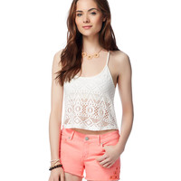 Map To Mars Lace Crop Cami