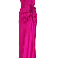 Temperley London | Delilah bow-front silk-satin gown | NET-A-PORTER.COM