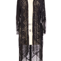 The Outer Fringe Lace Sweater