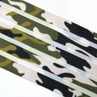 2 YARDS camouflage Wide Rubber Stretch Ribbon 3.5'' for crafts, belts, accessories