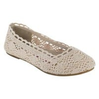 Women&#x27;s Ella Macrame Flat - Tan- Bongo-Shoes-Womens-Flats &amp; Loafers