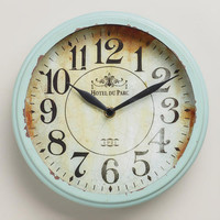 Small Blue Round Micah Clock - World Market
