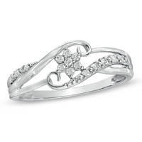 Cherished Promise Collection™ Diamond Accent Snowflake Ring in 10K White Gold - View All Rings - Zales