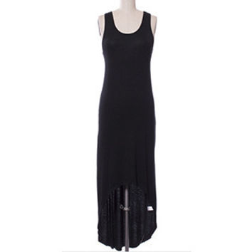 In Style Tank Racerback Hi/Lo Black Maxi Dress