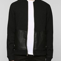 Feathers Biker Bomber Zip-Up Sweatshirt - Urban Outfitters