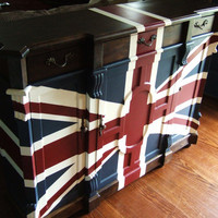 Old English Union Jack Butler's Buffet by Artisan8 on Etsy