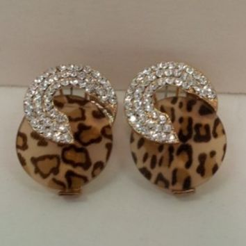 Leopard Circle Earrings