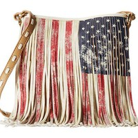 Steve Madden Handbag Blfringe American Flag Crossbody Bag