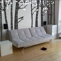 FREE SHIPPING JUMBO Birch Tree Wall Treatment by Lana by LanaKole