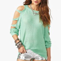 Shredded Knit - Mint in  Clothes at Nasty Gal